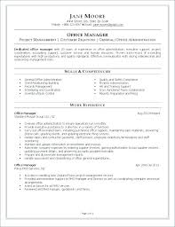 Office Manager Resume 1 Construction Manager Resume Resume Sample