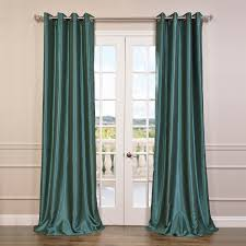 pea grommet blackout vintage textured faux dupioni silk curtain