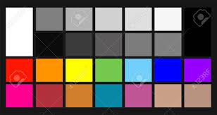 Color Calibration Chart Color Samples Chip Chart For Colour Calibration