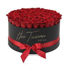 red rose luxury flower bouquet box black