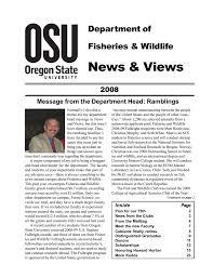 News & Views Department of Fisheries & Wildlife 2008
