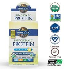 garden of life organic vegan protein powder with vitamins and probiotics raw organic plant based