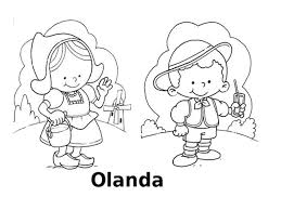 Disegni Da Colorare I Bambini Del Mondo Olanda