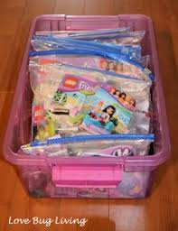 this is similar to my system at the moment sets d together in large ziplock bags with the instructions chitouli lego friends