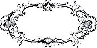 printable bracket frame. Black And White Fancy Label Clip Art Printable Bracket Frame
