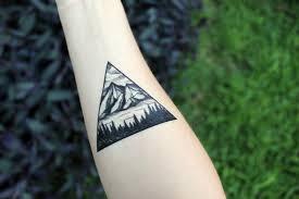 Nature Triangle Forearm Tattoo Amazing Tattoo Ideas