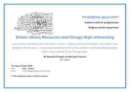 Online Library Resources And Chicago Style Referencing Workshop 2