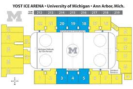 Eastern Michigan University Convocation Center Seating Chart Yost Ice Arena Seating Chart Michigan Hockey Michigan Hockey