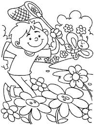 Free Color Pages Spring Preschool Coloring Pages Spring Color For