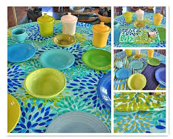 the little round table new fiesta linens calypso tablecloth paper placemats full size