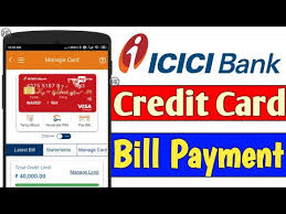 to pay icici credit card bill
