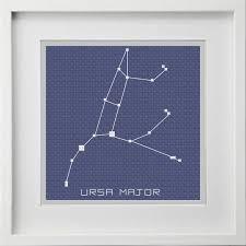 Ursa Major Big Dipper Constellation Cross Stitch Pattern Instant Digital Pdf Download