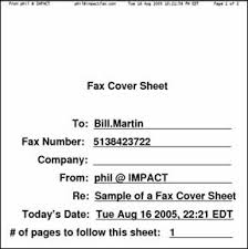 Example Of A Fax Message I Fax