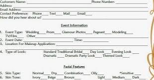 makeup consultation form template makeup consultation form sle mugeek vidalondon ideas