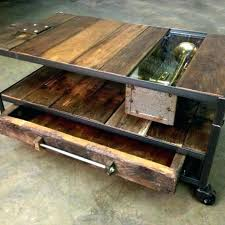 appealing wood metal coffee table custom made industrial with rustic and by the collection parquet reclaimed