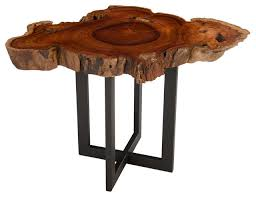 rosewood slice side table one of a kind wood