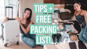 How To Pack Light For A Month Trip In A Carry On Free Packing List