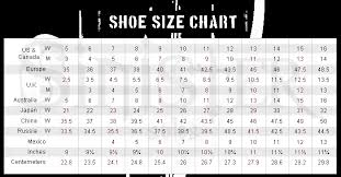 Standard Size Chart For Shoes Help Answer