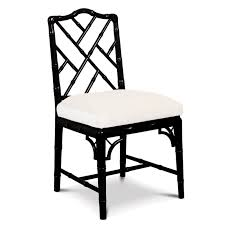 chippendale side chair. Black Chippendale Side Chair - Alt Image 1