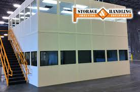 Warehouse mezzanine modular office Modular Inplant Modular Offices By Panelbuilt Mezzanines Storage Handling Mezzanines Storage Handling