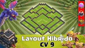 Clash Of Clans Layout Cv 9 H Brido Youtube