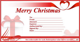 christmas certificates templates download christmas gift certificate templates wikidownload