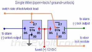 locks nissan s single wire using relays type f door lock door locks nissan s single wire 91 95 using 2 relays type f door lock