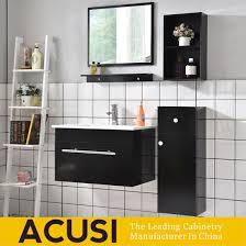modern furniture wood black lacquer high end bathroom cabinet acs1 l63