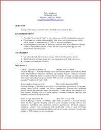 Restaurant Manager Resume Sample Monster Hospitality Resume Template ...