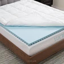 memory foam mattress. Modren Memory Lucid Twin Hybrid Down Alternative  Gel Infused Memory Foam Mattress Pad To D