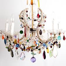 6 arm crown shaped marie therese with multi coloured drops the pertaining to trendy coloured