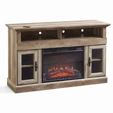 tv stand electric fireplace media console for tv s up to 60 weathered finish