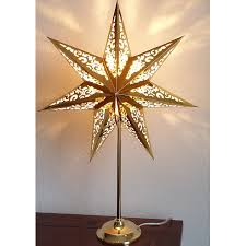 Weihnachtsstern Tischlampe Gold 66 Cm
