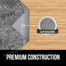 gorilla grip the original r felt rubber gripper rug pad extra thick pads made in usa