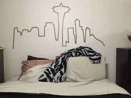 Seattle Bedroom Furniture Seattle Skyline Washi Tape Wall Bedroom Pinterest Tape Wall