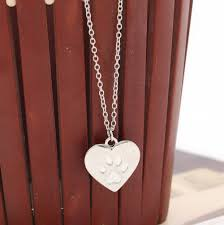 hot creative heart paw claw of kitty cat pendant necklace