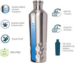 mindful design 25oz stainless steel double walled vacuum