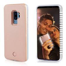 Light Up Samsung S9 Case Selfie Light Up Case For S9 Plus Fullopto S9 Plus Case With Selfie Light Rechargeable Battery And High Brightness Luminous Light Protection Cell