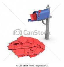 Full mailbox clip art Search Illustration Drawings and EPS
