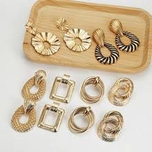 Multicolor Metal Drop <b>Earrings for Women</b> Vintage Exaggeration ...