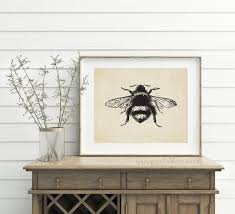 french country decor bee printable