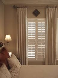 window shutters with curtains. Perfect Curtains Combining Plantation Shutters With Curtains Privacy Cosiness Warmth In Window Shutters With Curtains O