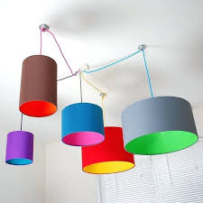 multi coloured lampshade modern colored lamp shades pick and mix drum choice of with 18