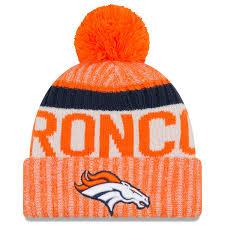 denver broncos hats. men\u0027s new era orange denver broncos 2017 sideline official sport knit hat hats h