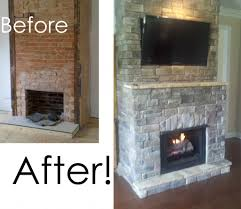 grey brick fireplace luxury painted with white color paint of stone