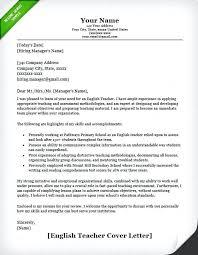 Teacher Resume Cover Letter Sample Teacher Cover Letter Example