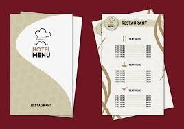 031 Restaurant Menu Template Free Download Word Hotel