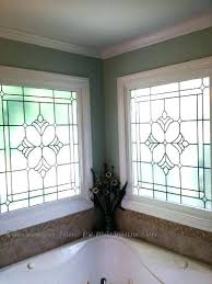 window privacy bevel decorative one way installation for bathroom windows