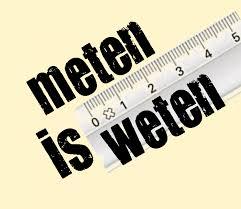 Afbeeldingsresultaat voor meten is weten