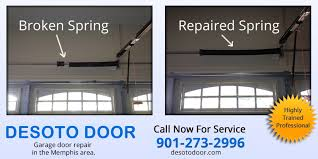 desoto door garage door and spring repair memphis regarding broken garage door springs
